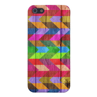 Wooden Chevron Pattern Zigzag iPhone 5/5S Cover