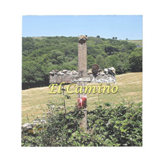 Wooden cross, El Camino, Spain Notepad