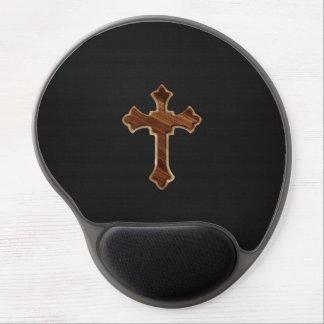 Wooden Cross on Dark Fabric Image Print Gel Mouse Pad