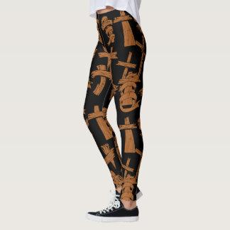 Wooden Crosses Leggings