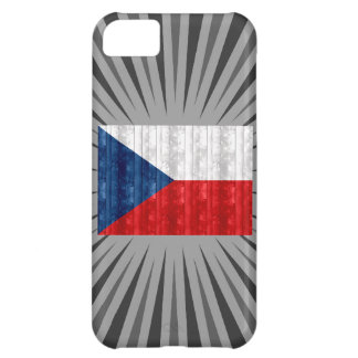 Wooden Czech Flag Case For iPhone 5C