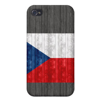 Wooden Czech Flag Case For iPhone 4