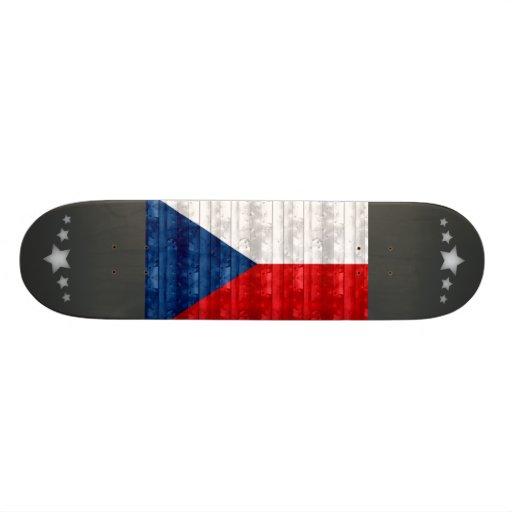 Wooden Czech Flag Skateboards