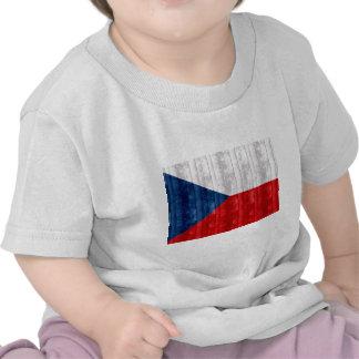 Wooden Czech Flag T Shirt