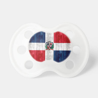 Wooden Dominican Flag Baby Pacifier