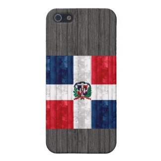 Wooden Dominican Flag iPhone 5 Cases