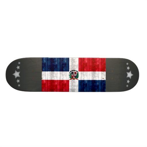 Wooden Dominican Flag Skate Board Deck