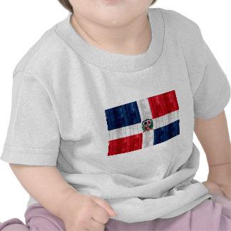 Wooden Dominican Flag T-shirt