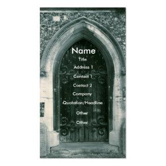 Wooden Door Business Cards