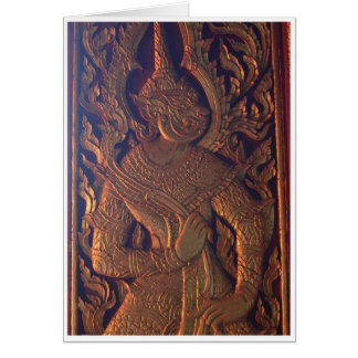 Wooden Door Carving Card