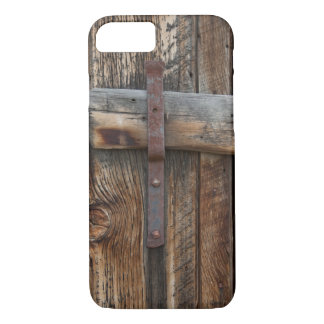 Wooden door close-up, California iPhone 8/7 Case
