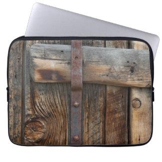 Wooden door close-up, California Laptop Sleeve
