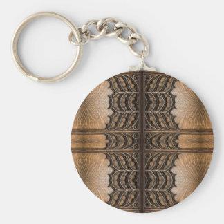 Wooden Door Symmetry Key Ring