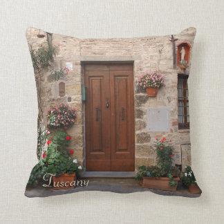 Wooden Door Tuscany Italy Personalized Cushion