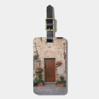 Wooden Door Tuscany Italy Personalized Luggage Tag