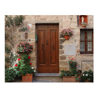 Wooden Door Tuscany Italy Personalized Postcard