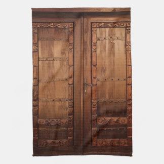 Wooden Doors Tea Towel