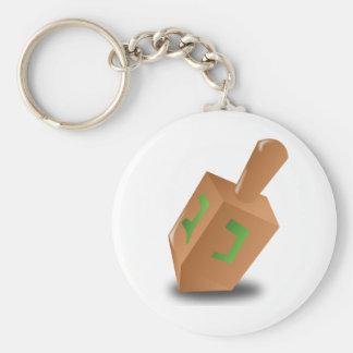 Wooden Dreidel Toy Keychain