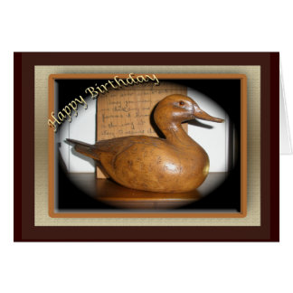 Wooden Duck Birthday Card