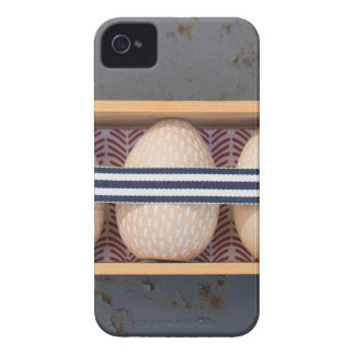 Wooden eggs in a box iPhone 4 cover