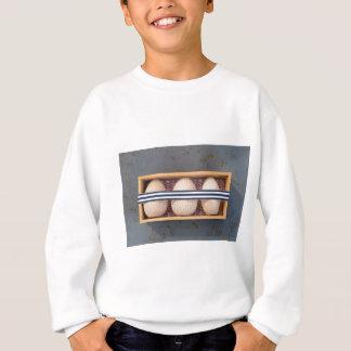 Wooden eggs in a box sweatshirt