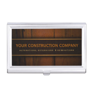Wooden Faux Pine Wood Custom Business Card Holder