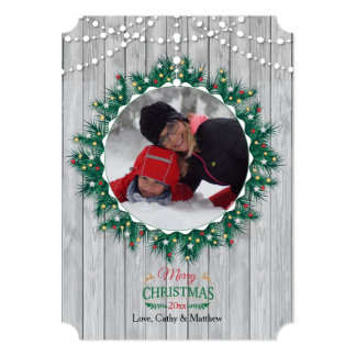 Wooden Fineness Photo Holiday Card 13 Cm X 18 Cm Invitation Card