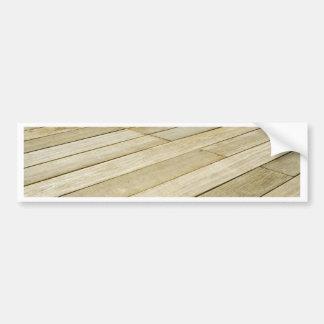 Wooden flooring bumper sticker
