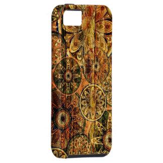 wooden floral abstract vector art tough iPhone 5 case