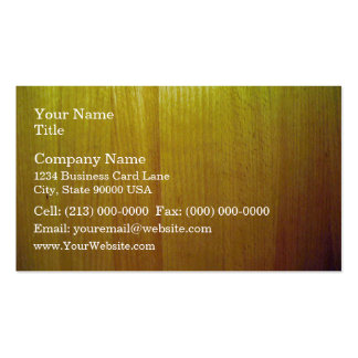 Wooden furniture with various shades of yellow business card template