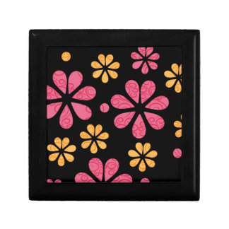 Wooden Gift Boxes::Retro Pink Flowers