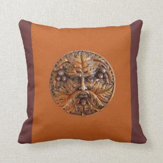 Wooden Greenman Pillow Cushions