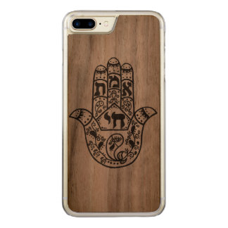 Wooden Hamsa Carved iPhone 8 Plus/7 Plus Case