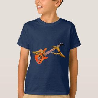 Wooden hands play electric guitar gift design T-Shirt