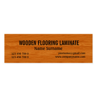 Wooden hard wood flooring PERSONALIZE Business Card Template