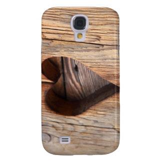 Wooden Heart Galaxy S4 Case