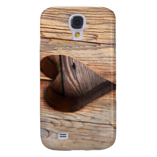 Wooden Heart Galaxy S4 Cases