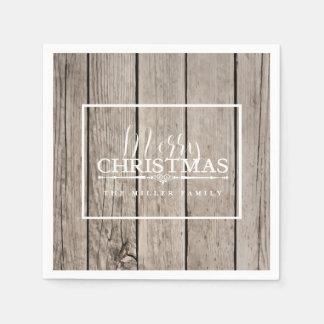 Wooden, Holiday Paper Serviettes