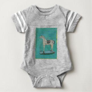 Wooden horse baby bodysuit
