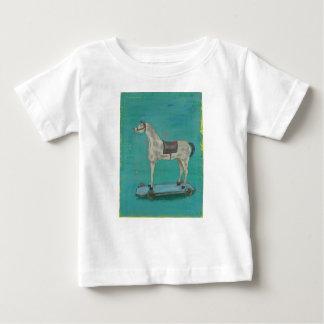 Wooden horse baby T-Shirt
