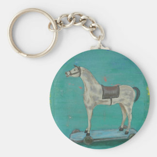Wooden horse key ring