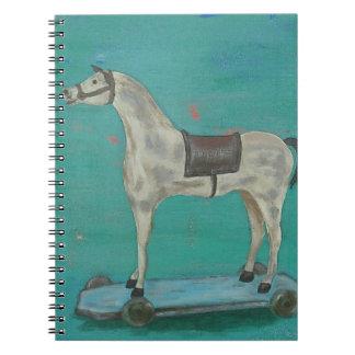 Wooden horse notebook