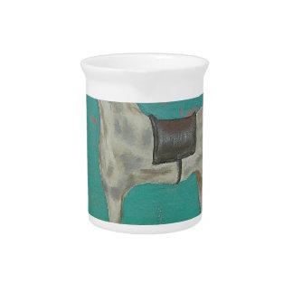 Wooden horse pitcher