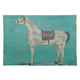 Wooden horse placemat