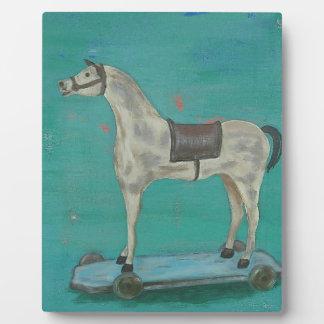 Wooden horse plaque