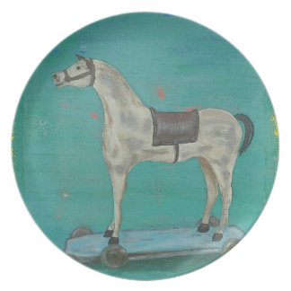 Wooden horse plate