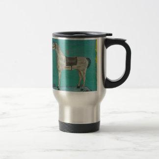 Wooden horse travel mug