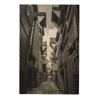 Wooden house alley wood wall decor