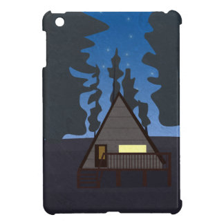Wooden Hut In A Forest At Night - Illustration Cover For The iPad Mini