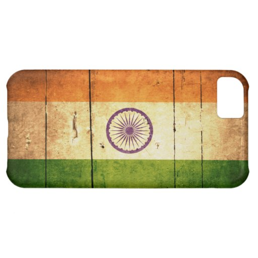 Wooden Indian Flag Case For iPhone 5C